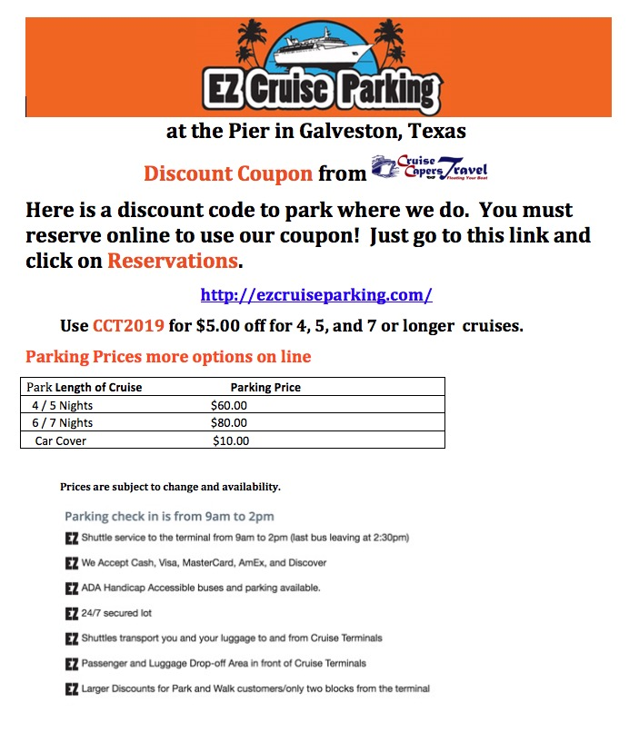 EZ Cruise Parking Discount